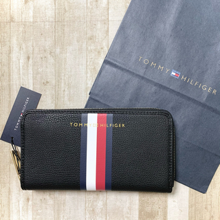 TOMMY HILFIGER - 新品未使用 tommy トミー ブラック ロゴ 長財布
