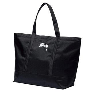 ステューシー(STUSSY)のステューシー トートバッグ black  刺繍ロゴ入り(トートバッグ)