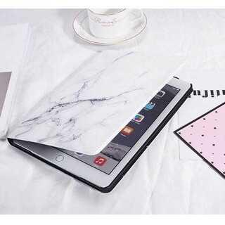 大理石柄 iPadケース カバー タブレット マーブル 北欧 白(タブレット)