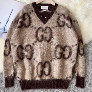 Gucci - 新作【GUCCI】 GG モヘア ウール Vネック セーター
