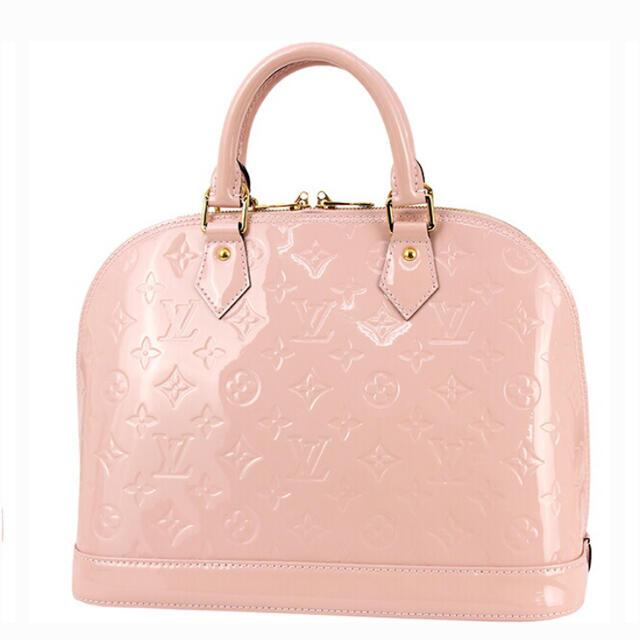 LOUIS VUITTON(ルイヴィトン)のルイヴィトン  アルマPM ヴェルニ ピンク レディースのバッグ(ハンドバッグ)の商品写真