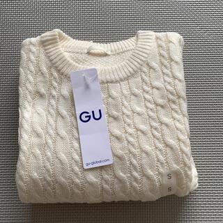 GU - GU トップス セーター 白 Sサイズ