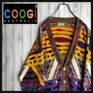 COOGI - 【激レア】coogi クージー 立体 編込み 希少 3Dニット カーディガン
