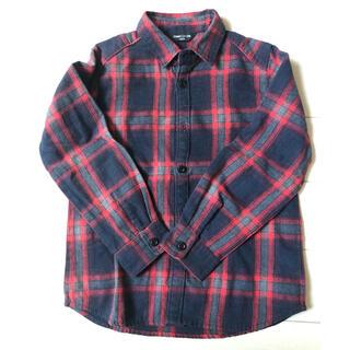 コムサイズム(COMME CA ISM)の美品 コムサイズム チェックシャツ ネルシャツ(Tシャツ/カットソー)