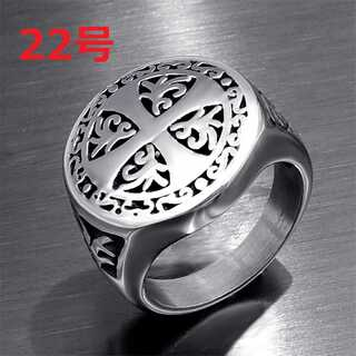 北欧アクセ クロス 十字架 モチーフ シルバー リング 指輪 22号(リング(指輪))