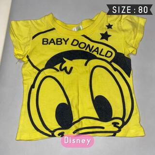 ディズニー(Disney)の【Disney】激安 ディズニー イエロー ドナルド 半袖Ꭲシャツ80(Tシャツ)