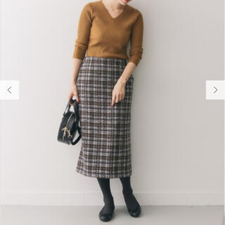DOORS / URBAN RESEARCH - 【新品】ドアーズのツイードチェックタイトスカート