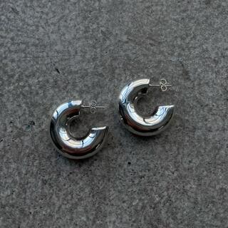 Wide hoop Earrings / silver 925