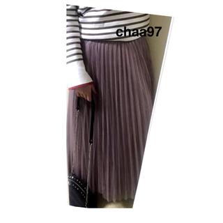 シマムラ(しまむら)のくすみピンク チュールスカート(ロングスカート)