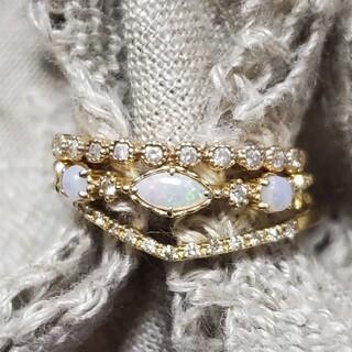 agete - K14 オパール ダイヤモンド