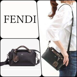 フェンディ(FENDI)の【フェンディ】バイ ザ ウェイ スモール ボストンバッグ 人気のブラック(ハンドバッグ)