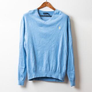 ポロラルフローレン(POLO RALPH LAUREN)のポロ ラルフローレン セーター 水色(ニット/セーター)