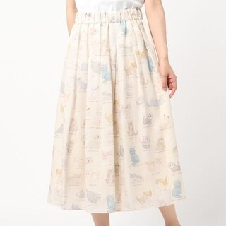 フランシュリッペ(franche lippee)のフランシュリッペ ねこ図鑑 スカート(ひざ丈スカート)