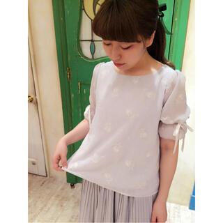 フィント(F i.n.t)の美品ハートFi.n.t♡ シェル刺繍ブラウス(シャツ/ブラウス(半袖/袖なし))