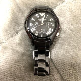 Emporio Armani - エンポリオアルマーニブラックセラミックAr1401 ブラックダイヤルクロノ腕時計