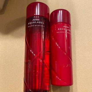 アクアレーベル(AQUALABEL)のアクアレーベル しっとり 化粧水、乳液 2点セット 新品未使用(サンプル/トライアルキット)