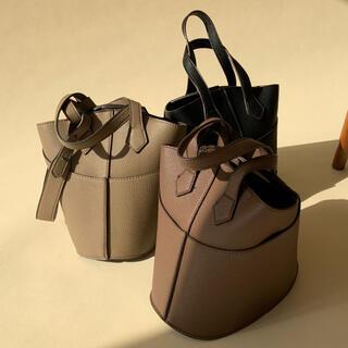 amiur smooth mini shoulder bag beige