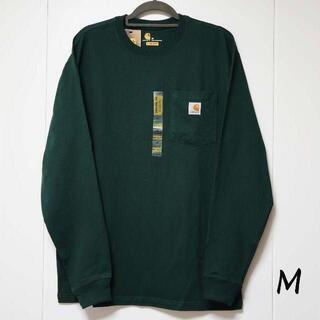 カーハート(carhartt)の新品 carhartt ロンT 長袖/グリーン/M(Tシャツ/カットソー(七分/長袖))