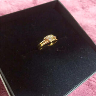 Christian Dior - 美品 高級 DIOR k18YG ダイヤモンドリング 約7号 0.23ct