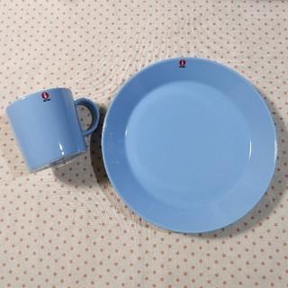 イッタラ(iittala)の新品未使用 イッタラ ティーマ ライトブルー マグカップ プレート 食器 廃盤(食器)