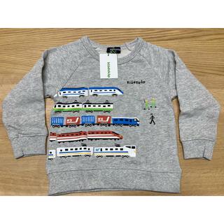 クレードスコープ(kladskap)の【新品】クレードスコープ  トレーナー 電車 グレー 100(Tシャツ/カットソー)