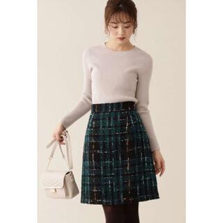 プロポーションボディドレッシング(PROPORTION BODY DRESSING)の♡チェックツイードミニスカート♡(ミニスカート)