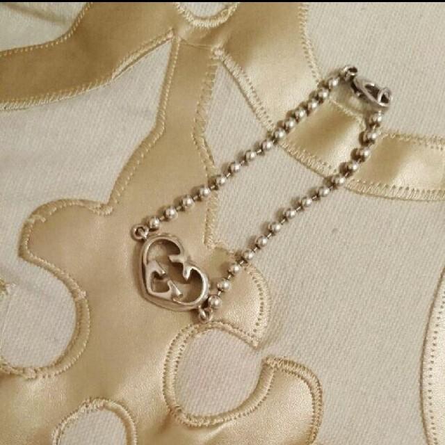 Gucci(グッチ)の正規店購入♥GUCCI♥ハートブレスレット サンローラン,フルラ,ティファニー レディースのアクセサリー(ブレスレット/バングル)の商品写真
