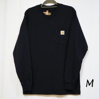 カーハート(carhartt)の新品 carhartt ロンT 長袖/ブラック/M(Tシャツ/カットソー(七分/長袖))