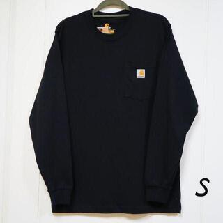カーハート(carhartt)の新品 carhartt ロンT 長袖/ブラック/S(Tシャツ/カットソー(七分/長袖))