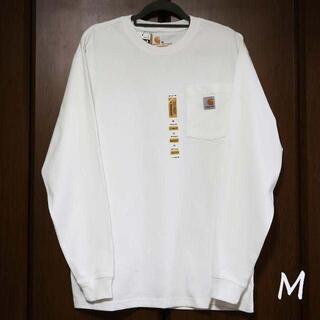 カーハート(carhartt)の新品 carhartt ロンT 長袖/ホワイト/M(Tシャツ/カットソー(七分/長袖))