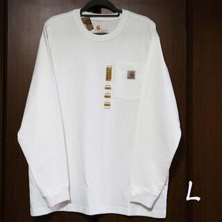 カーハート(carhartt)の新品 carhartt ロンT 長袖/ホワイト/L(Tシャツ/カットソー(七分/長袖))