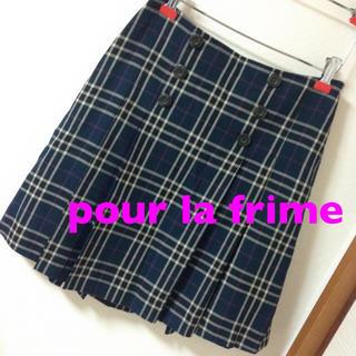 プーラフリーム(pour la frime)のプーラ フリーム♡チェックスカート(ひざ丈スカート)