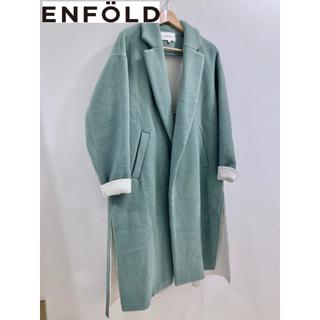 ENFOLD - エンフォルド 2018AW ダブルビーバースリットコート 希少サイズ38