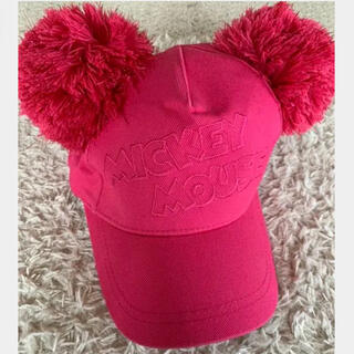 ディズニー(Disney)のディズニー ポンポンキャップ ピンク(キャップ)