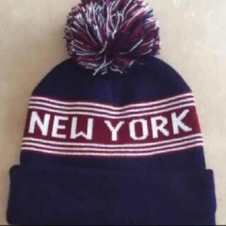 アメリカンアパレル(American Apparel)のamerican apparel ポンポン ニット帽(ニット帽/ビーニー)