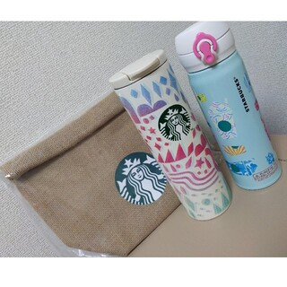 Starbucks Coffee - スタバ 福袋 タンブラー2個&ジュートランチバッグ