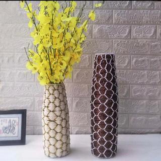 花瓶 割れない フラワーベース ラタン アジアン ドライフラワー インテリア (花瓶)