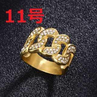 ブリンブリン マイアミキューバン リング ゴールド 指輪 11号(リング(指輪))