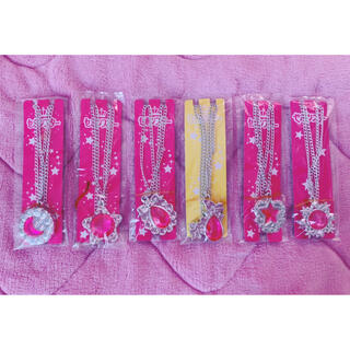セーラームーン(セーラームーン)のセボンスター 詰め合わせi 6個セット 宝石 ピンク シルバー(キャラクターグッズ)