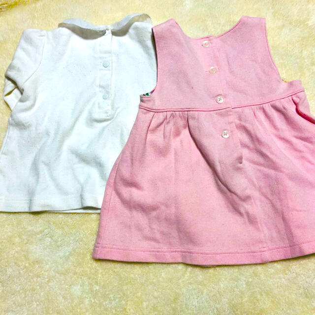 familiar(ファミリア)の【familiar】ブラウス&スカート キッズ/ベビー/マタニティのベビー服(~85cm)(ワンピース)の商品写真