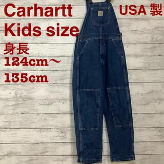 カーハート(carhartt)の☆Carhartt キッズサイズデニムオーバーオール USA製 一点物(その他)