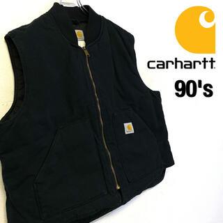 カーハート(carhartt)の美品 90's carhartt ダッグ地 中綿入りベスト メンズ2XL(ベスト)
