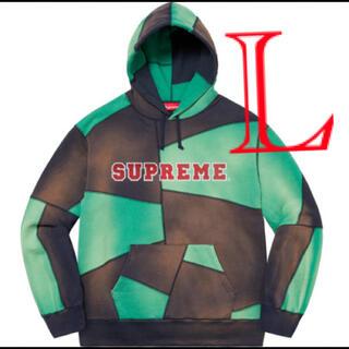 シュプリーム(Supreme)のsupreme Patchwork Hooded Sweatshirt L(パーカー)