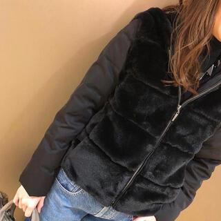 エムプルミエ(M-premier)のエムプルミエ   ブラック ジャケット コート、ベスト 新品未使用 34(ダウンコート)