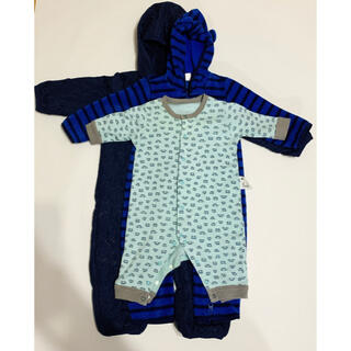 ベビーギャップ(babyGAP)の美品 baby Gap、ユニクロ ロンパース、カバーオール 3点 70.60cm(ロンパース)