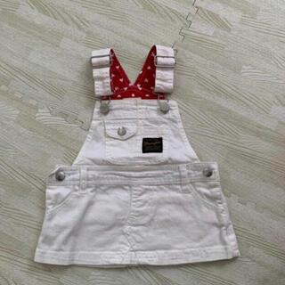 ラングラー(Wrangler)のラングラー 白サロペットスカート (スカート)
