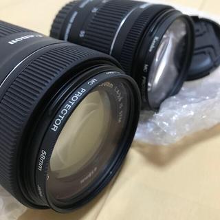 キヤノン(Canon)のキャノンレンズ18-55、55-250(レンズ(ズーム))