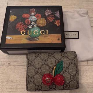 Gucci - GUCCI さくらんぼ 二つ折り財布