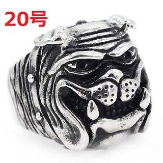 アメリカン ジュエリー ブルドッグ 犬 DOG シルバー リング 指輪 20号(リング(指輪))