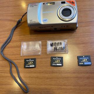 オリンパス(OLYMPUS)のOLYMPUS CAMEDIAX-100 ケース XDカード3枚 セット(コンパクトデジタルカメラ)